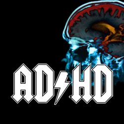 Very Cool ADHD For Dummies Logo ACDC Style